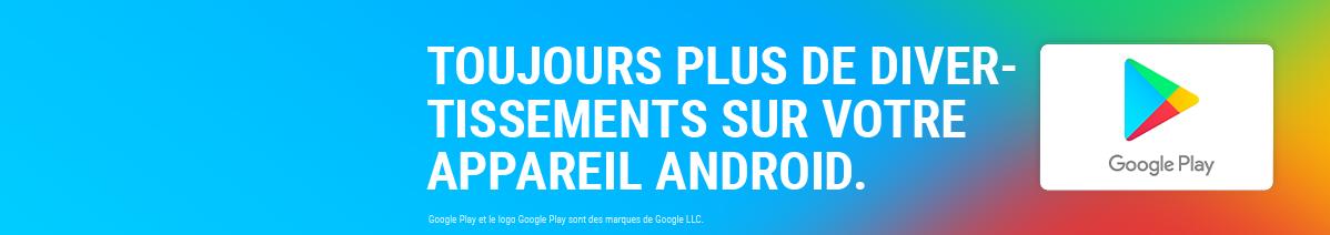 Recharge e-carte Google Play
