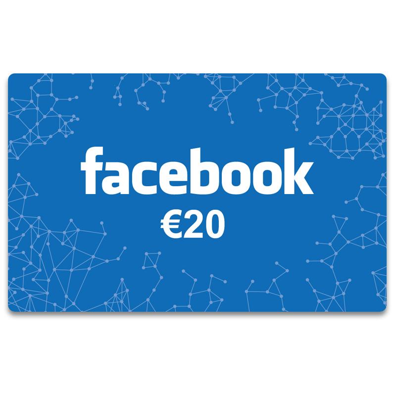 Facebook Gift Card 20 Euro