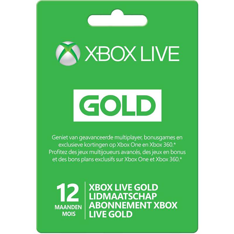 XBOX Live Gold 12 maanden