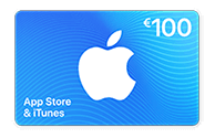 App Store & iTunes Card van € 100