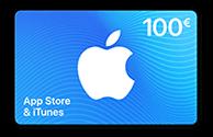 Carte App Store & iTunes de 100 €