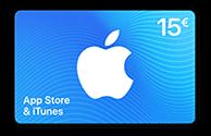 Geschenkkarte für App Store & iTunes über 15€
