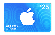 App Store & iTunes Card van € 25