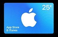 Carte App Store & iTunes de 25 €