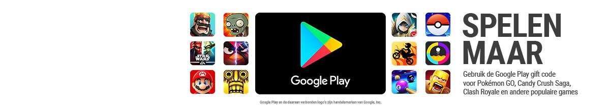 Google Play gift code opwaarderen