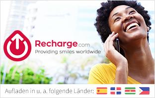 Handy aufladen Weltweit via Recharge.com