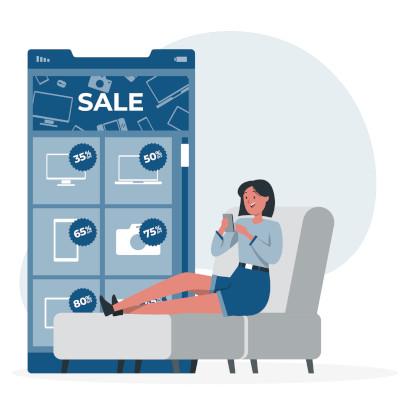 Black Friday avec des réductions allant jusqu'à 70% sur tous les produits
