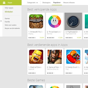 Koop de beste apps met de Google Play Gift Card van Herladen.com