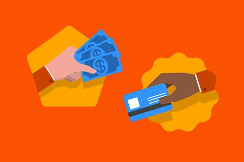 Prepaid-Kreditkarte mit Bargeld kaufen