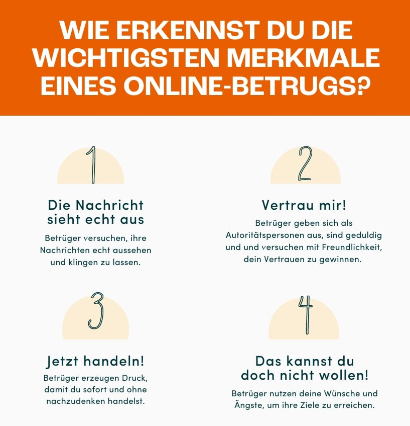 Wie erkennst du die wichtigsten Merkmale eines online Betrugs