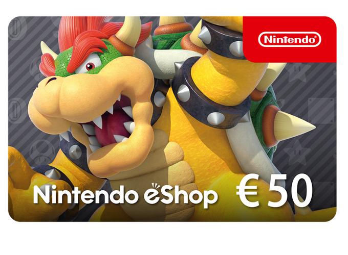 Nintendo eShop Card 50 EUR