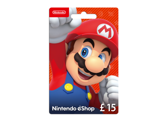 Nintendo eShop Card 15 Pounds