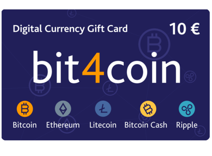 Carte cadeau bit4coin 10.0