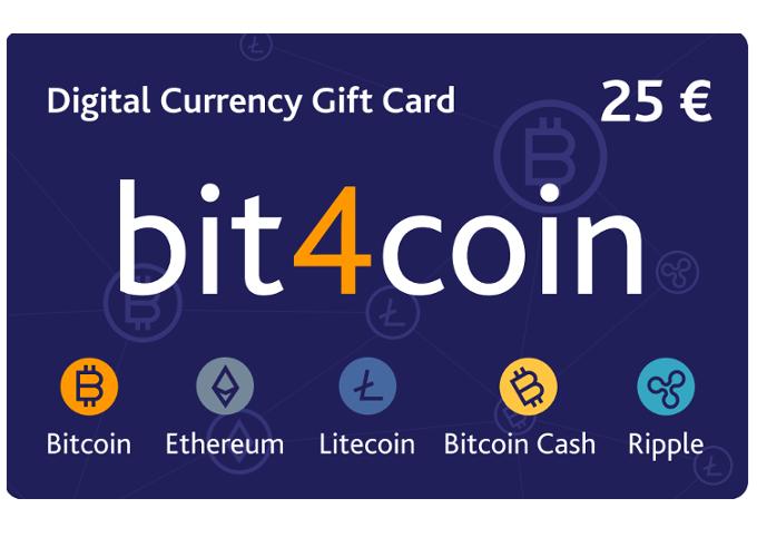 Carte cadeau bit4coin 25.0