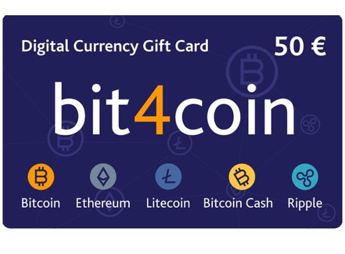 Carte cadeau bit4coin 50.0