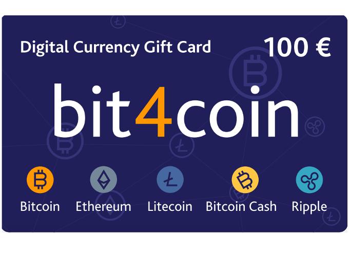 Carte cadeau bit4coin 100.0