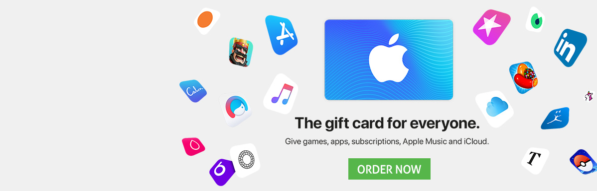 Enjoy the coolest apps with your itunes card.