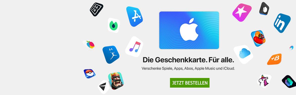 Eine Karte für alle Fälle. Die besten Apps mit der iTunes Karte.